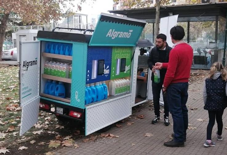 startup chilena de sostenibilidad, algramo, presentará unidades portátiles de reempaquetado en  ee.uu.