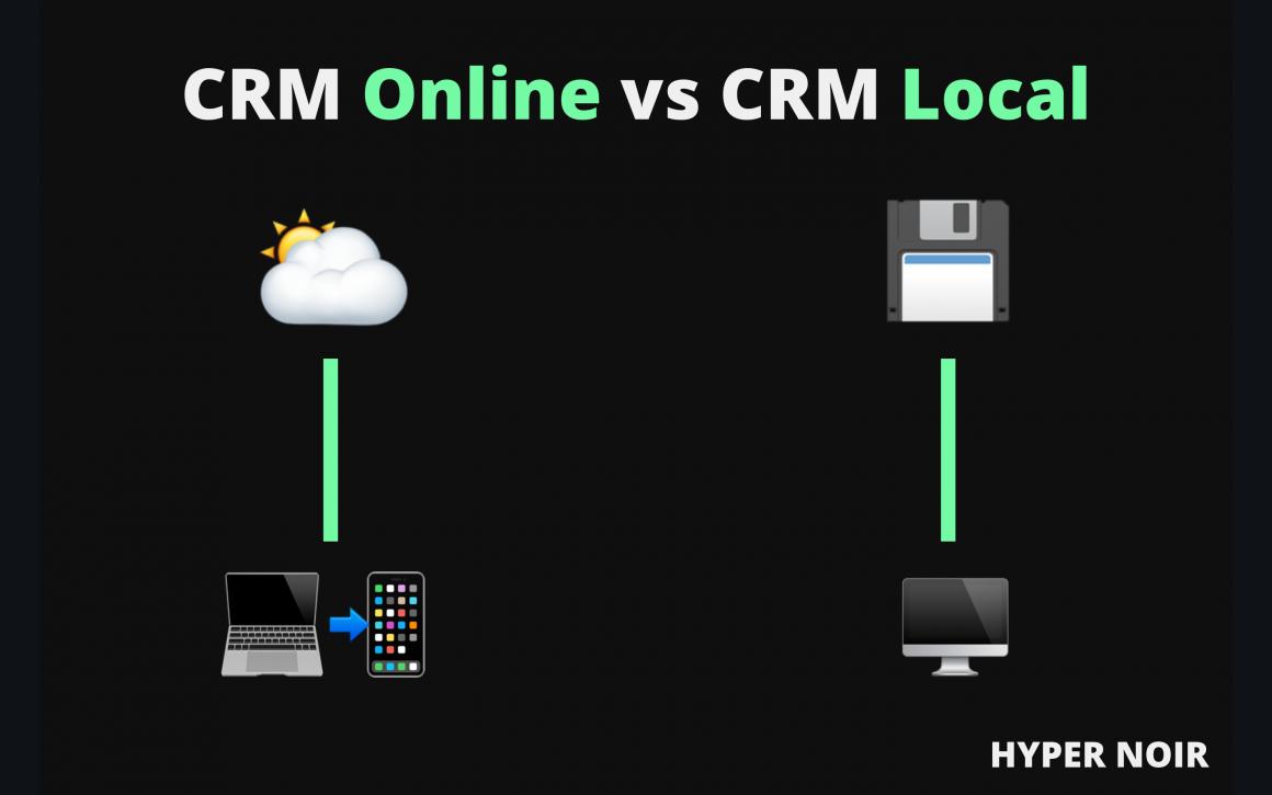 CRM Online vs CRM Local imagen ilustrativa